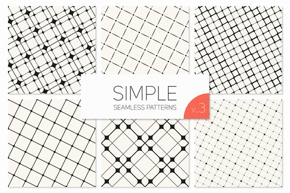 Simple Seamless Patterns Set 3