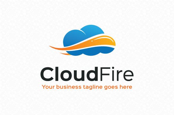 Cloud Fire Logo Template