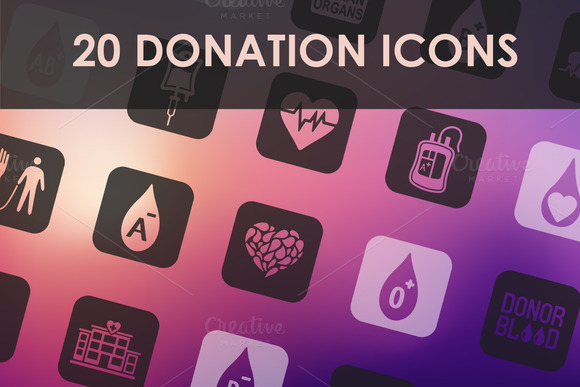 Set Of Donation Icons