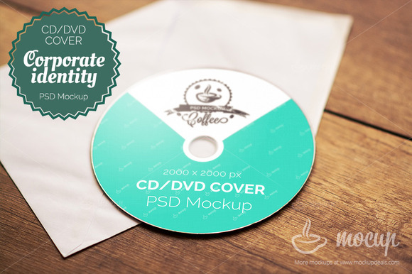 CD DVD Cover Mockup A