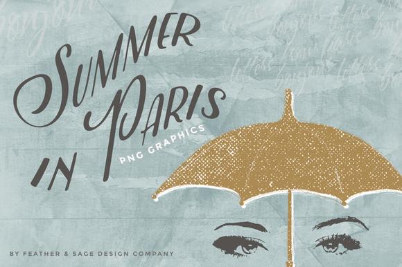 Summer In Paris Illustrations