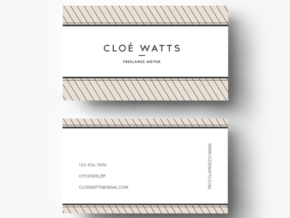 Creative Editable Business Card