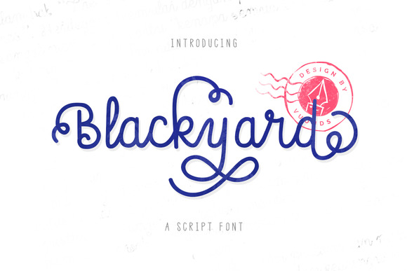 Blackyard Script Sans