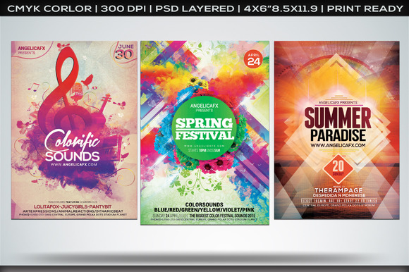 Colorful Flyers Bundle Vol 2