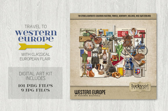 Western Europe Digital Art Kit