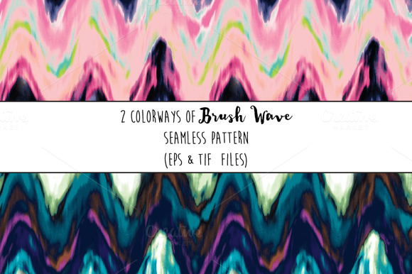 Seamless Brush Wave Pattern