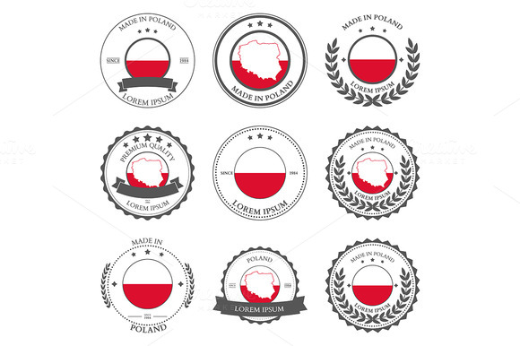 Made In Poland Seals Badges