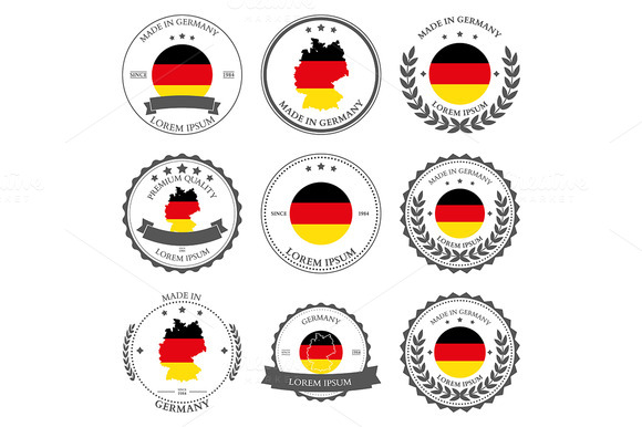 Made In Germany Seals Badges