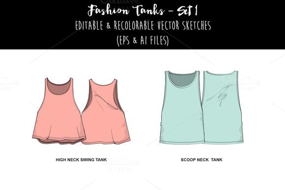 Fashion Tanks- Set 1