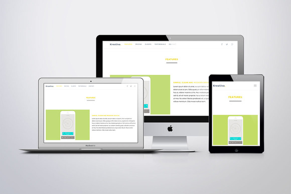 Kreativa One-page Bootstrap Theme