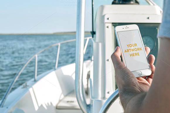 Nautical IPhone Mockup PSD