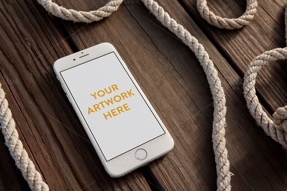 Nautical IPhone Mockup PSD