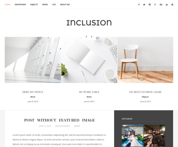 Inclusion Blog WordPress Theme