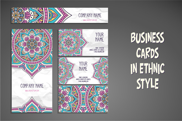 Business Cards In Ethnic Style