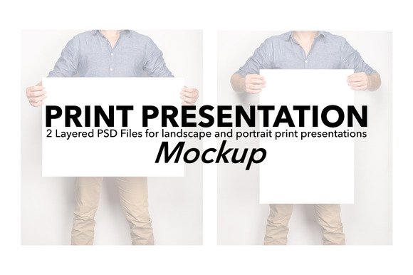 Print Artwork Presentation Mockup