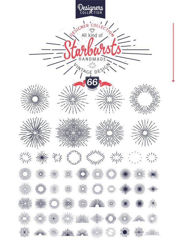 240 Styled Ribbons Starbursts Shape