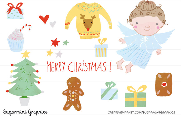 Christmas Clip Art Sweater Angel