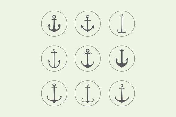 Anchor Crown Arrow Icons