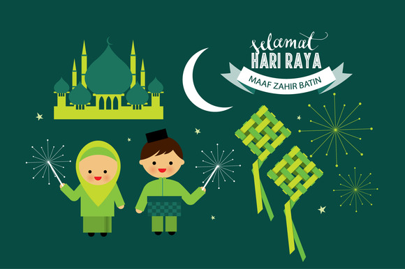 Hari Raya Elements Vector