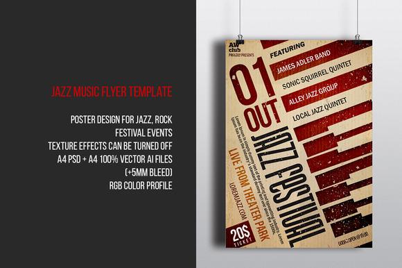 Jazz Festival Music Flyer Template