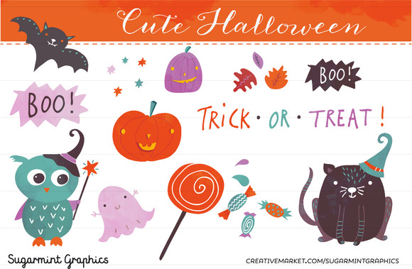Halloween Clip Art Cute Pumpkin