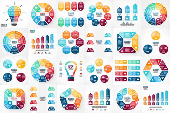 Big Infographic Bundle EPS AI PSD