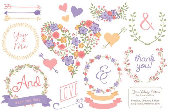 Wildflower Heart Banners