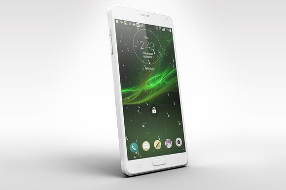 Samsung Galaxy Note 4 Mock Up