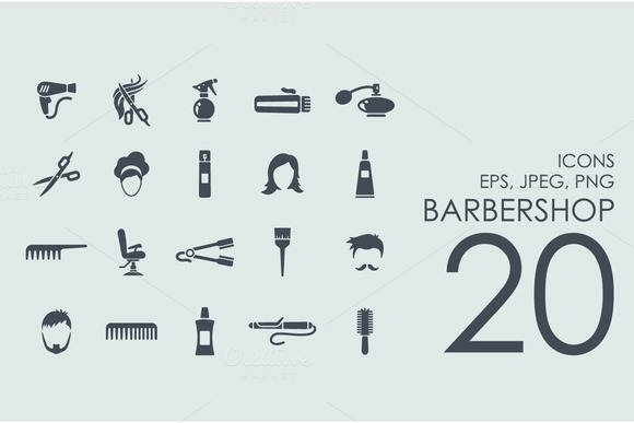 20 Barbershop Icons