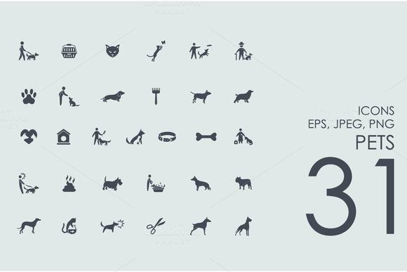 31 Pets Icons