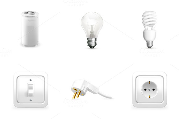 Electrical Appliance Vector Icons