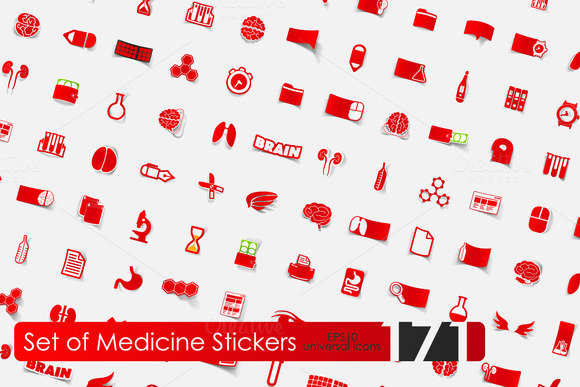 171 Medicine Stickers