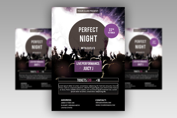 Perfect Night Flyer PSD