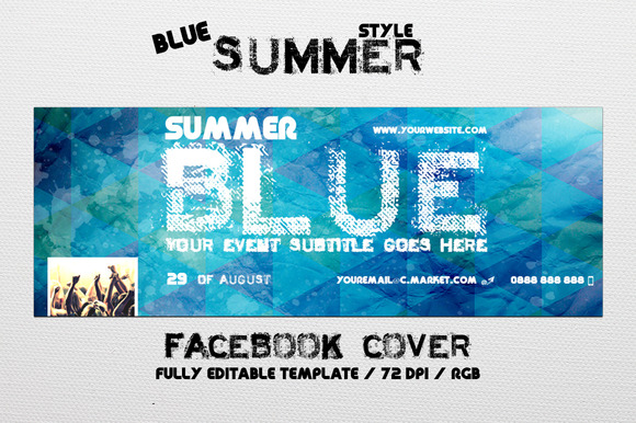 Blue Summer Facebook Cover