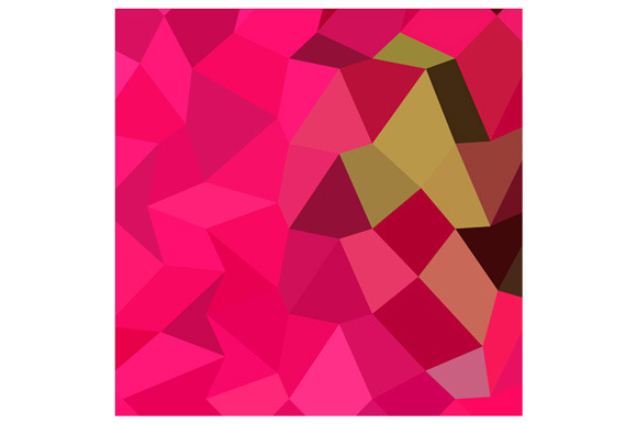 American Rose Abstract Low Polygon B