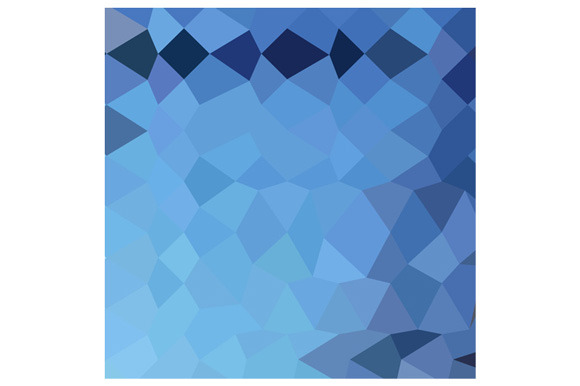 Blizzard Blue Abstract Low Polygon B