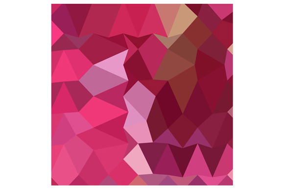 Brilliant Rose Pink Abstract Low Pol
