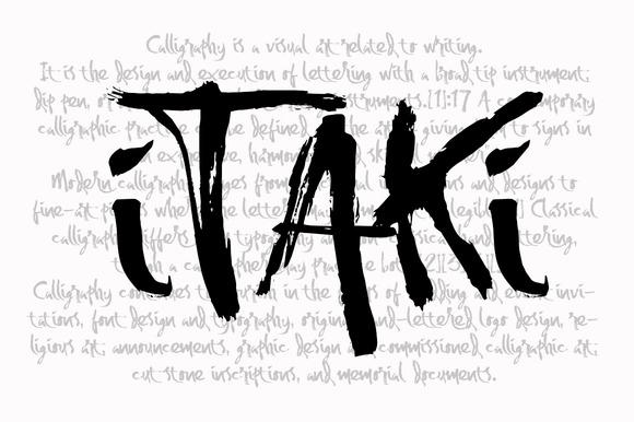 Itaki Calligraphic Typeface