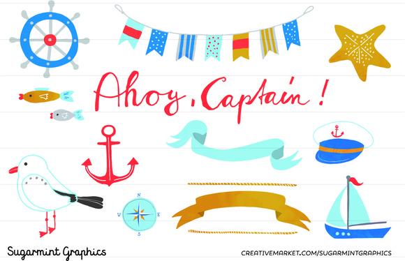 Nautical Clip Art Bunting Anchor