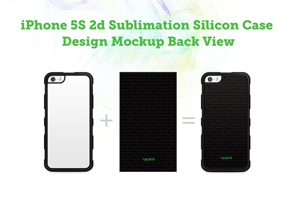 IPhone 5s 2d Silicon Case Mock-up
