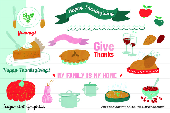 Thanksgiving Clip Art Turkey Cute