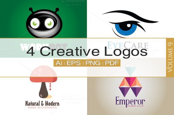 4 Creative Logos