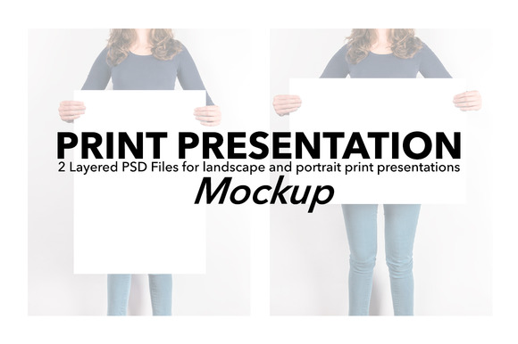 Artwork Presentation Mockup Female
