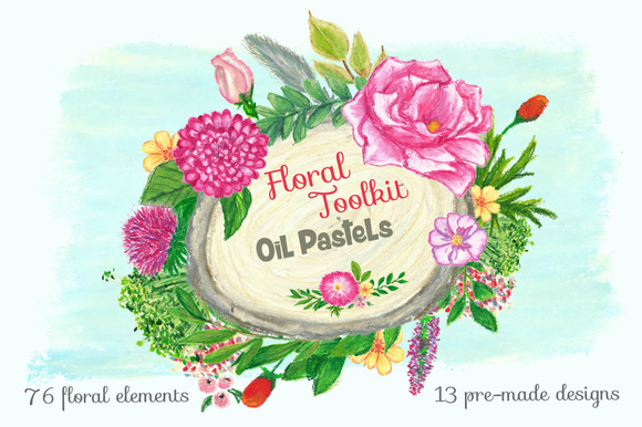 Floral Toolkit Oil Pastels