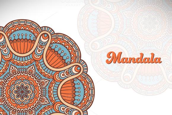 Mandala Ornament In Ethnic Style