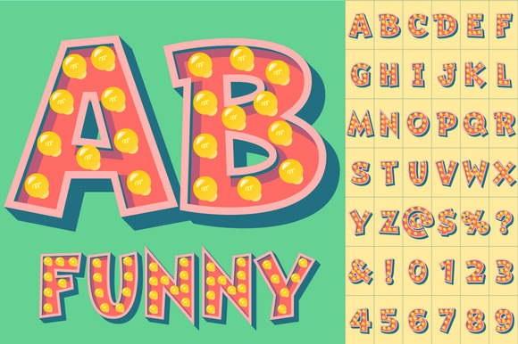 Comic Vector Lamp Alphabet
