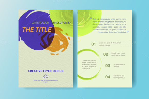 Aquarelle Business Flyers Eps 10