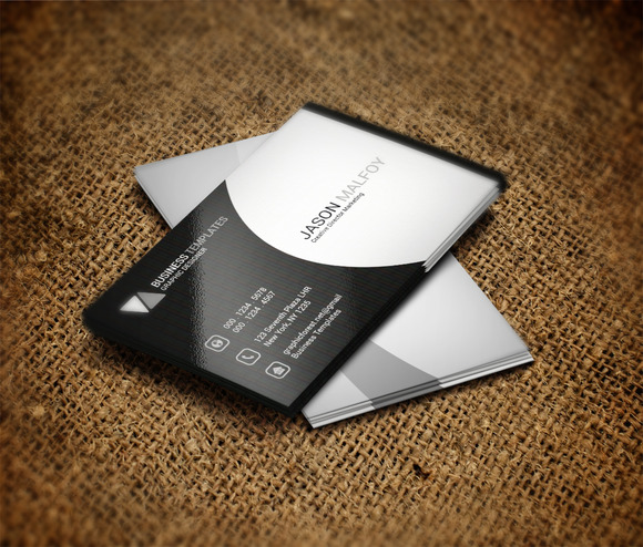 Black Grey Business Card Template