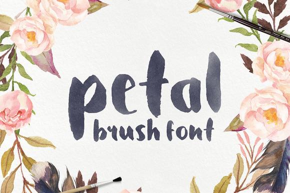 Petal Brush Font