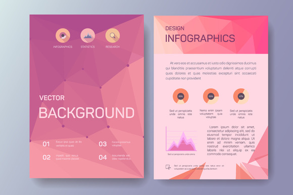 Abstract Business Flyers Eps 10